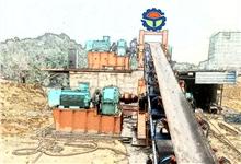 嵩阳煤机920m上运17°固定落地皮带输送机已在四川某煤矿安装完毕