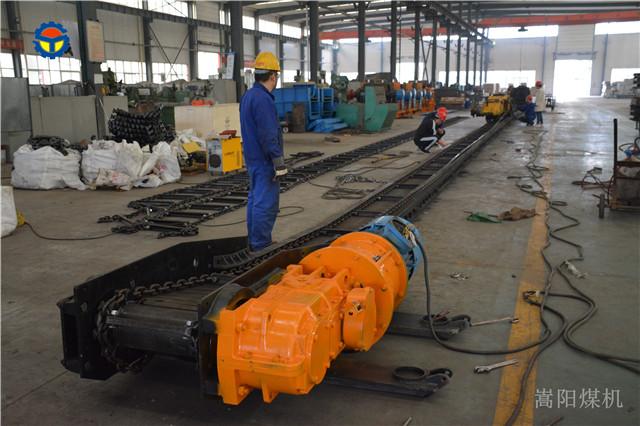 嵩阳煤机生产的SGB620/40 刮板输送机发往山西大同煤矿