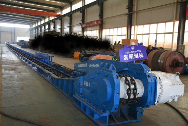 嵩阳煤机SGZ630/264刮板输送机完成试机发往黑龙江煤矿
