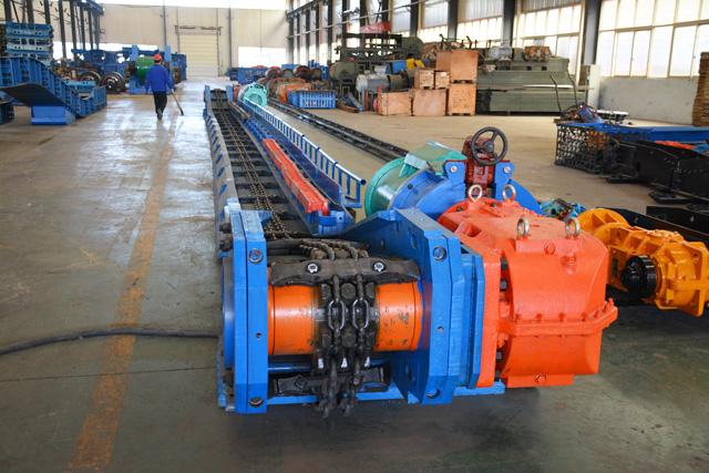 内蒙古SGZ630/220综采刮板输送机完成试机整装待发