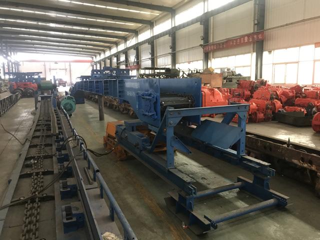 嵩阳煤机SZB730/75刮板转载机完成试机准备发货