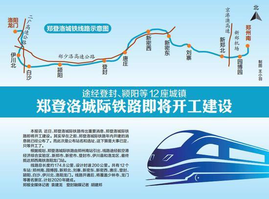 郑登洛城际铁路即将开工建设途经登封等12座城镇