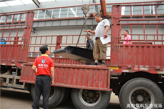 嵩阳煤机一批矿用皮带机配件将发往山西临汾