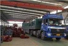 皮带输送机托辊已由嵩阳煤机仓库发往徐州